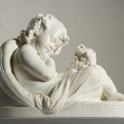 Two friends (1876) Carrara marble, 49 x 68.5 x 41.5 cm Ipswich Art Gallery Collection. Acquired through the Ipswich Art Gallery Foundation, 2014
